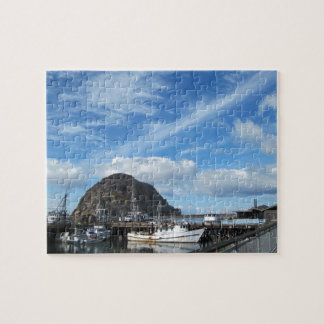 Morro Rock, Fishing Boats and the Embarcadero Jigsaw Puzzle