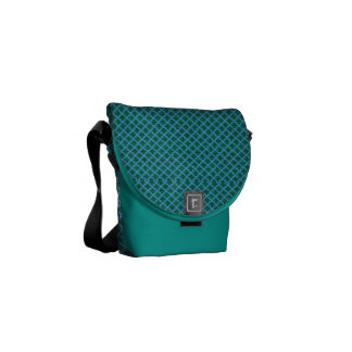 Morrocan Inspired in Blue and Green Commuter Bags