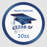 Mortar, diploma Class of Graduation Seal Round Sticker