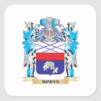 Morys Coat of Arms - Family Crest Square Sticker