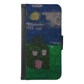 Mosaic art samsung galaxy s6 wallet case