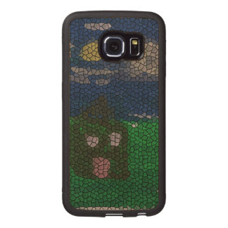 Mosaic art wood phone case