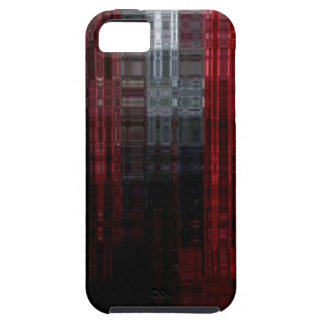 Mosaic Burgandy iphone Tough iPhone 5 Case