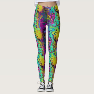 MOSAIC CHAOS MULTICOLOR LEGGINGS