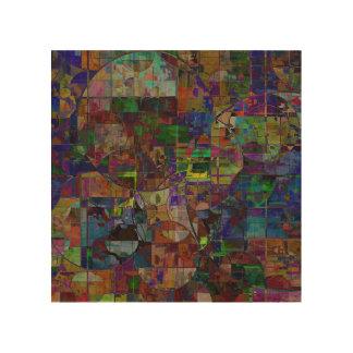 Mosaic Circles Wall Art Wood Prints