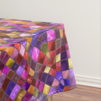 Mosaic Pattern Custom Cotton Tablecloth, 3 sizes Tablecloth