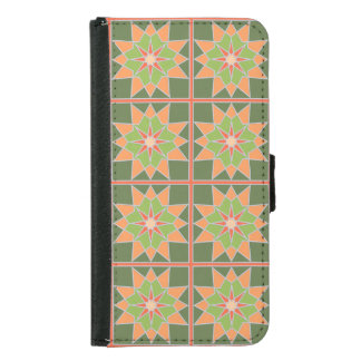Mosaic pattern wallet cases
