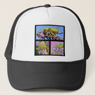 Mosaic photos of grasshoppers trucker hat