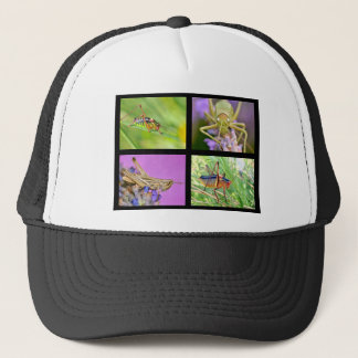 Mosaic photos of grasshoppers trucker hat