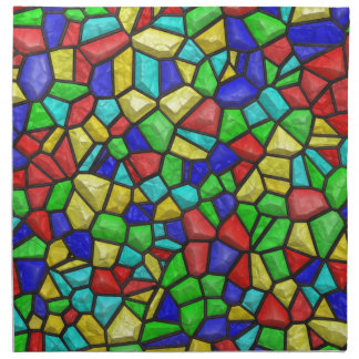 Mosaic Stained-glass Window. Retro Vintage Pattern Napkins