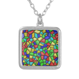 Mosaic Stained-glass Window. Retro Vintage Pattern Necklaces
