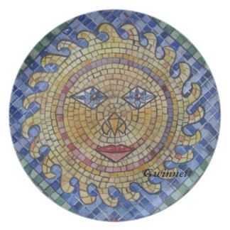 Mosaic Sun Plate