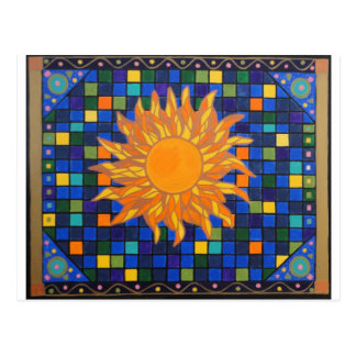 Mosaic Sun Postcard