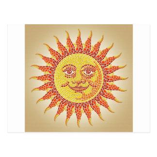 Mosaic Sun Post Card