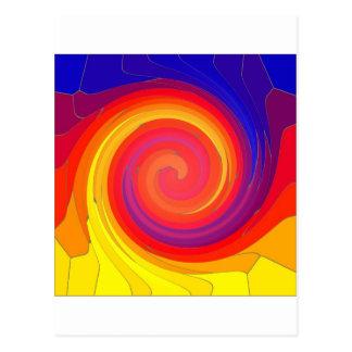 Mosaic Swirl. Postcard