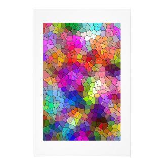 Mosaic Tile Rainbow Stationery Paper