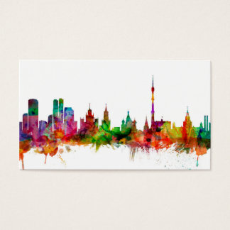 Moscow Russia Skyline Business Card
