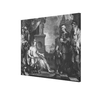Moses brought to Pharoah's Daughter, c.1752 Canvas Print