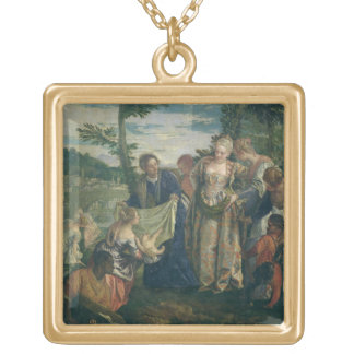 Moses Rescued from the Nile, 1580 (oil on canvas) Gold Plated Necklace