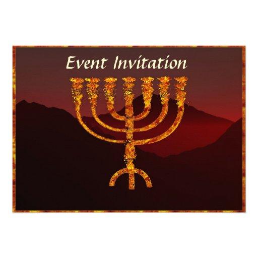 Moshe's Menorah Custom Invites