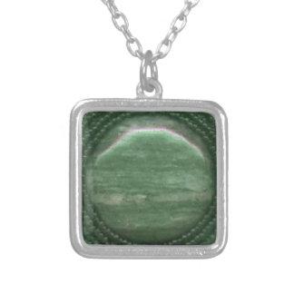 Moss Agate Gemstone Matrix Custom Necklace