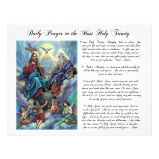 Most Holy Trinity Daily Prayer Flyer