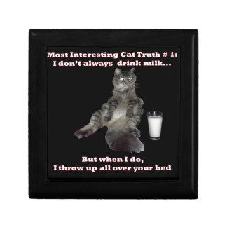 Most Interesting Cat 1 jpg Keepsake Box