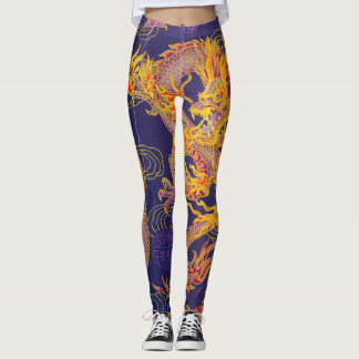 Most Popular Ancient Chinese Gold Emperor Dragon Leggings