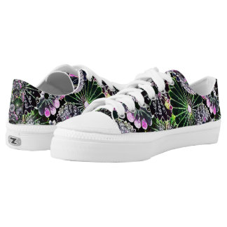 Most Popular Colorful Flowers Chalk Art Printed Shoes