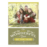 Most Wonderful Time of the Year Holiday Photo Card 13 Cm X 18 Cm Invitation Card