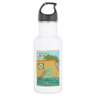 Motel Pool-from Route 66 Memories 532 Ml Water Bottle