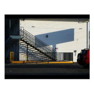 Motel Stairway, Susanville Postcard