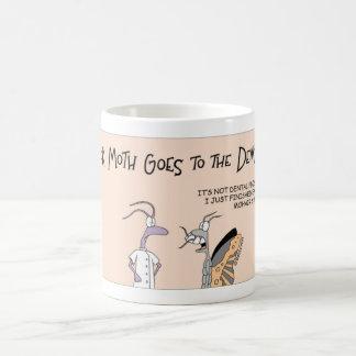 Moth goes to the dentist coffee mug