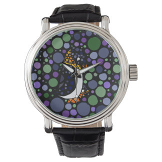 Mother and Baby Penguin Abstract Watch