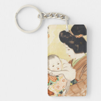 Mother and Child Shinsui Ito japanese portrait art Key Ring