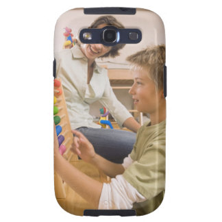 Mother and son using abacus samsung galaxy s3 cover