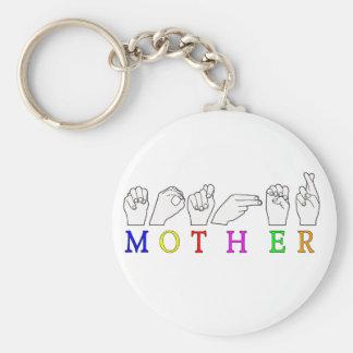 MOTHER ASL FINGER SPELLED KEY CHAIN