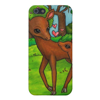 Mother deer and baby Fawn Case For The iPhone 5