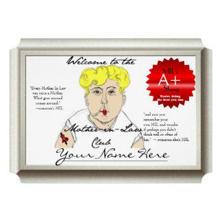 Mother in Law Certificate silver frame- humor Custom Announcements