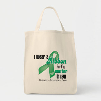 Mother-in-Law - Liver Cancer Ribbon Grocery Tote Bag