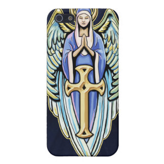 Mother Mary Guardian Angel Cross Design Cover For iPhone 5/5S