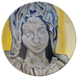 Mother Mary Porcelain Plate