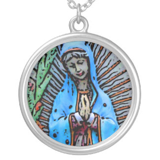Mother Mary Silver Plated Necklace