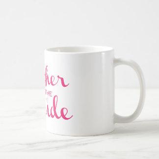 Mother of Bride Hot Pink On White Basic White Mug