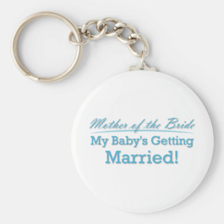 Mother of the Bride Basic Round Button Key Ring