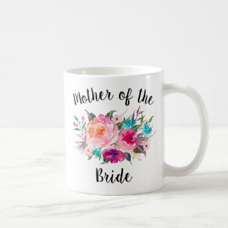 Mother of the Bride Elegant Floral Coffee Mug