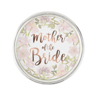 Mother of the Bride Floral Lapel Pin