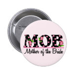 Mother of the Bride (MOD) Tulip Lettering Pinback Buttons