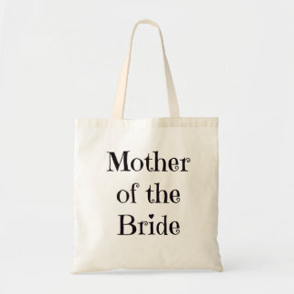 Mother of the Bride Tote, Black Lettering