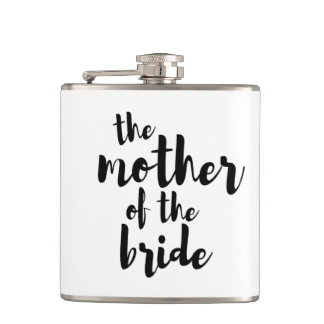 Mother of the Bride Wedding Vinyl Flask
